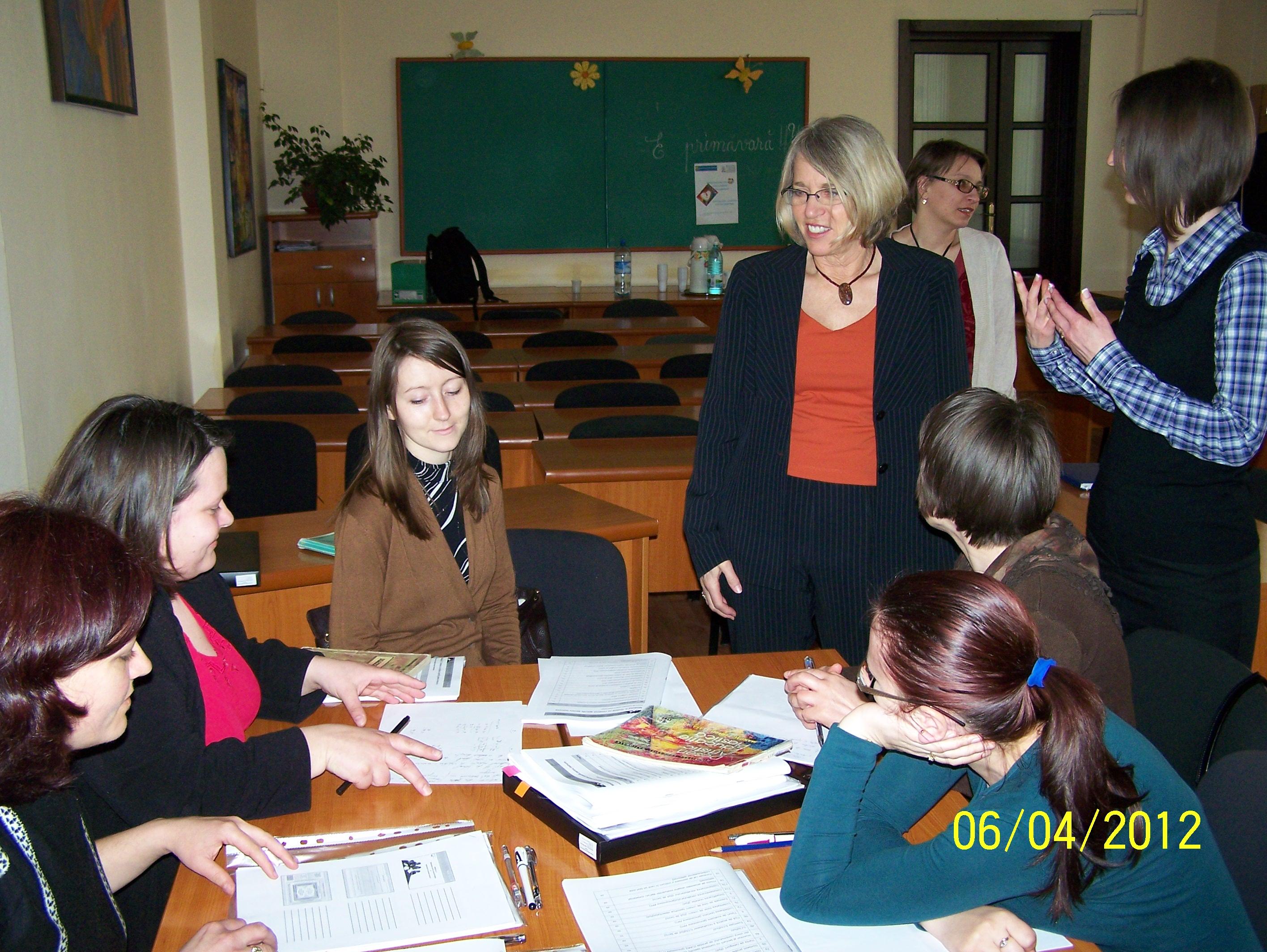 """Vizita doamnei Prof. Dr. Carol Santa în proiectul """"Baculit"""""""