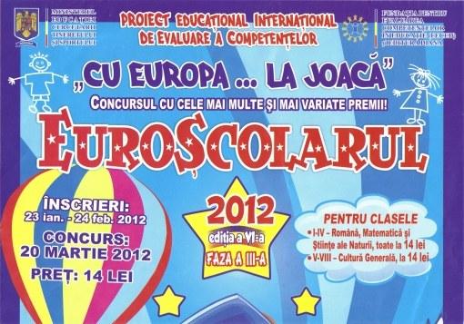"""Rezultatele la concursul """"Euroşcolarul"""""""
