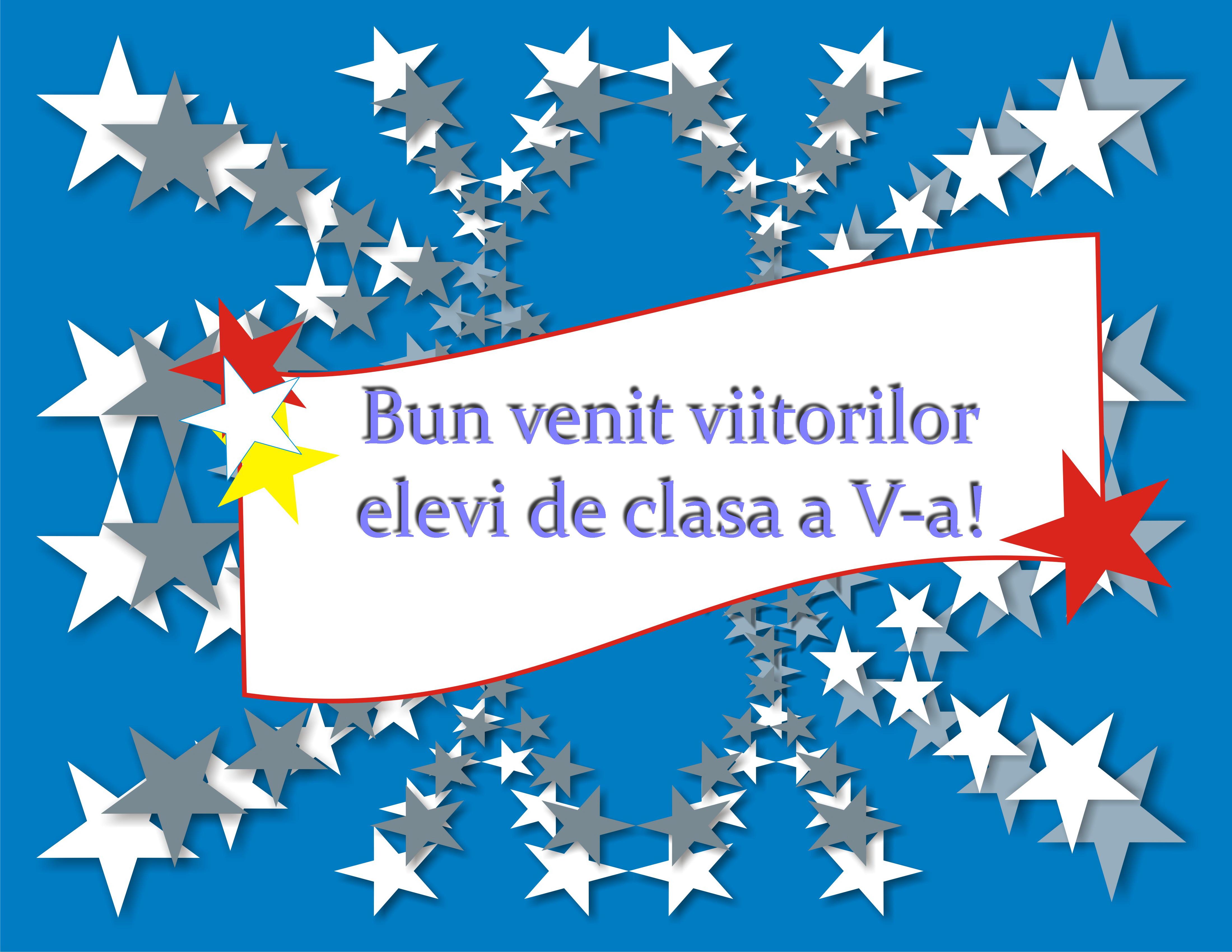 Felicitări viitorilor elevi de clasa a V-a