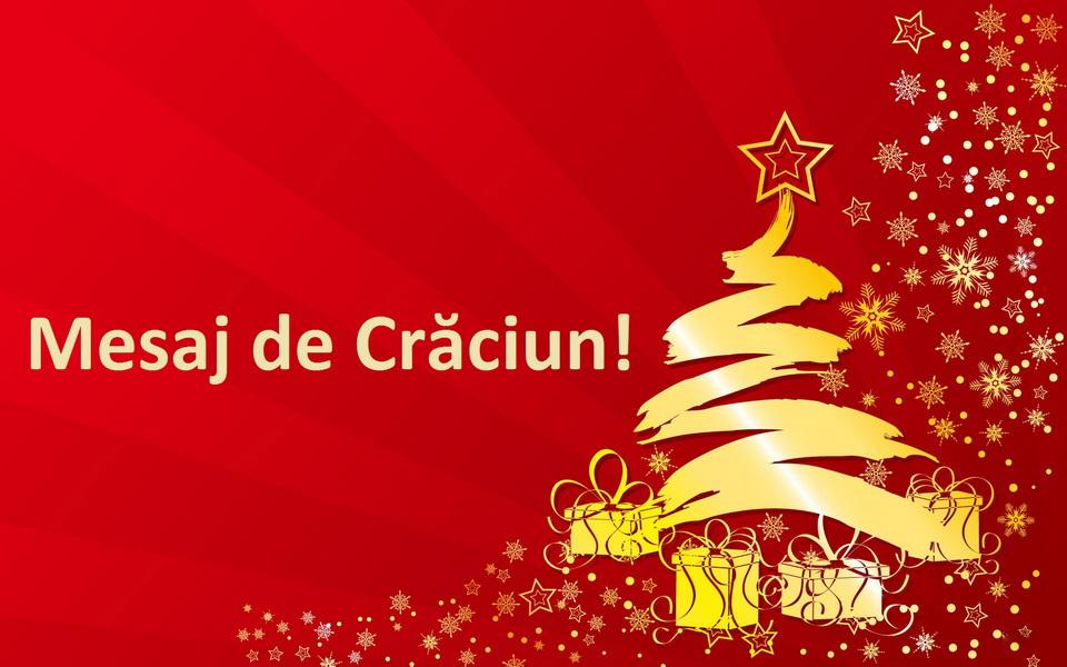 Mesaj de Crăciun din partea domnului director