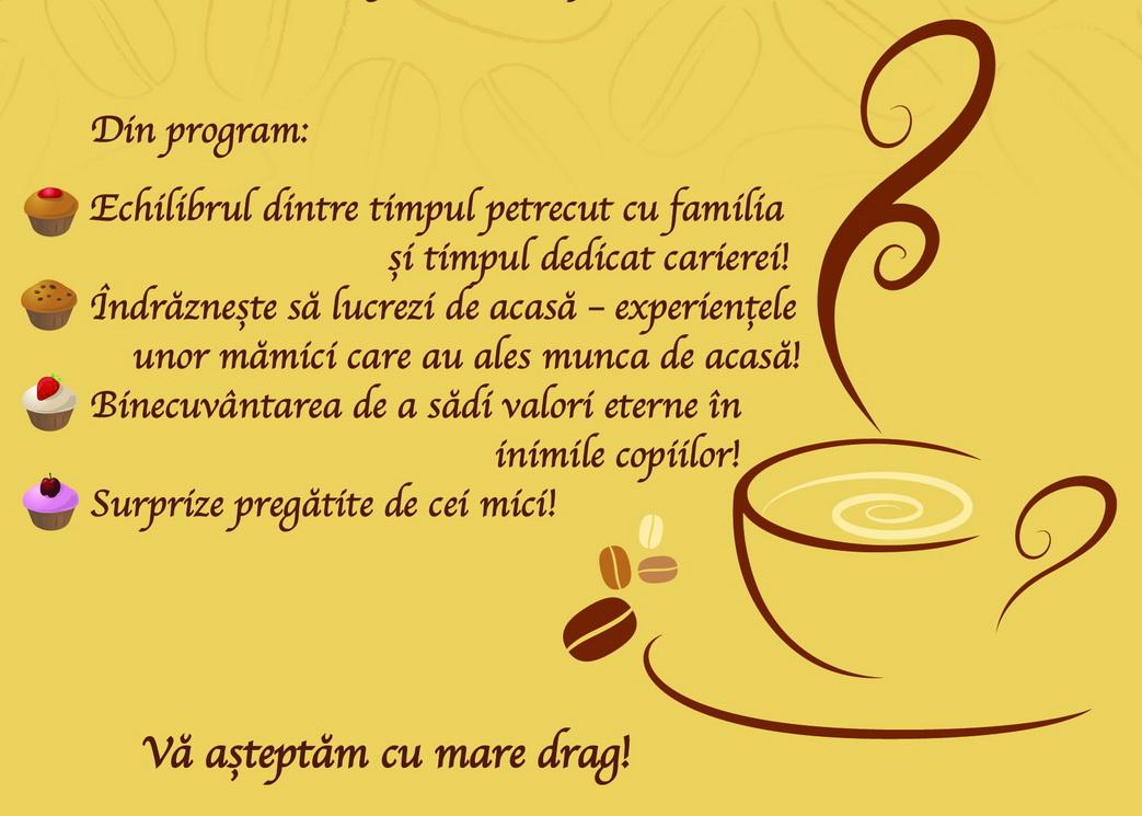 Cafea și desert de ziua mamei la CRW