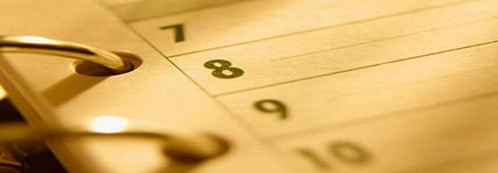Calendar săptămâna 1-5 aprilie 2013