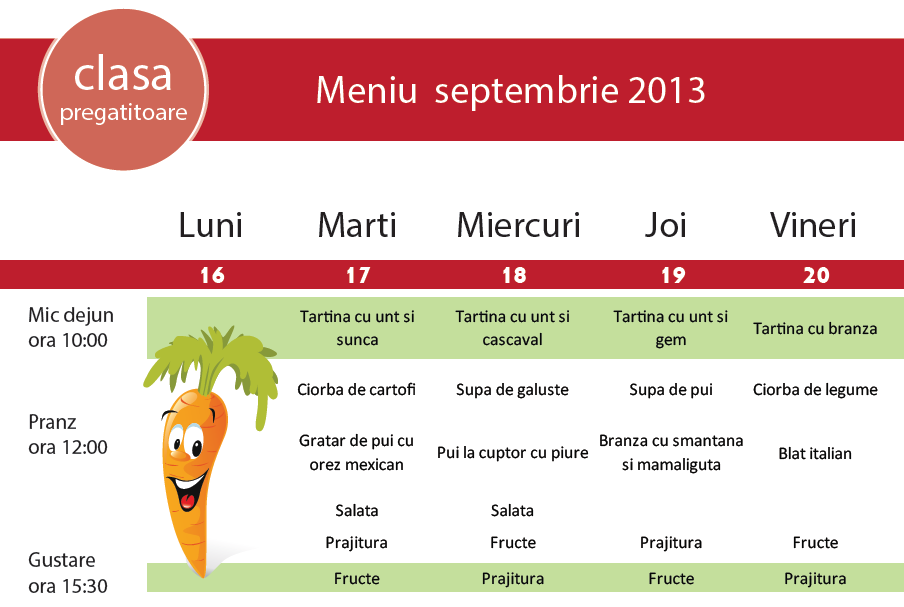 Yummy-yum: Meniu luna septembrie