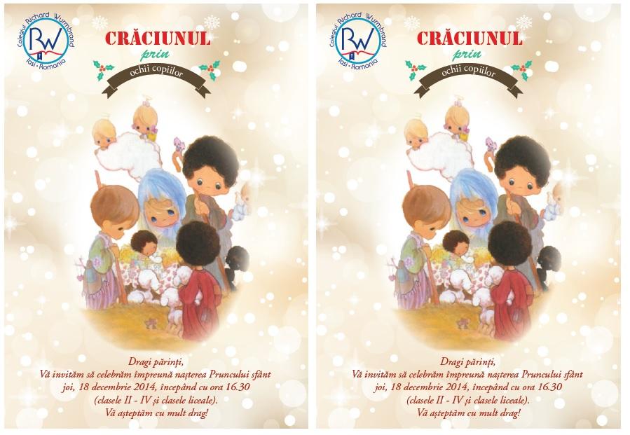 Invitație – Crăciunul prin ochii copiilor