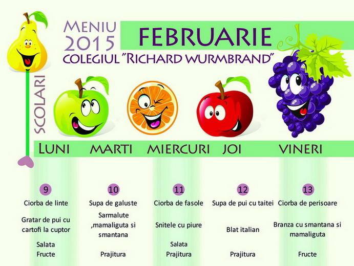Meniu luna februarie